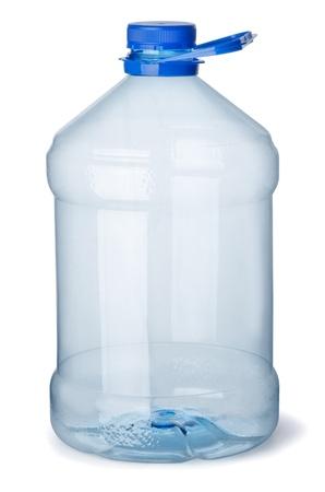 plastico pet: Botella de galón de plástico vacía aislada en blanco