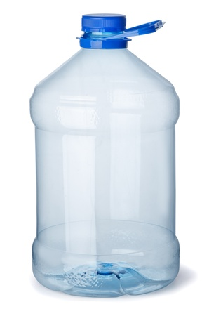 gallon: Empty plastic gallon bottle isolated on white Stock Photo