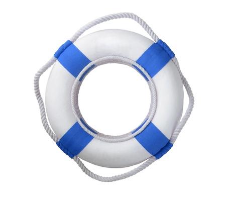 life buoy: White life buoy  isolated on white Stock Photo