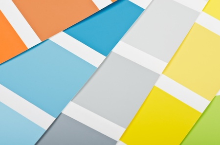 painting and decorating: Close up of paint color samples  Stock Photo