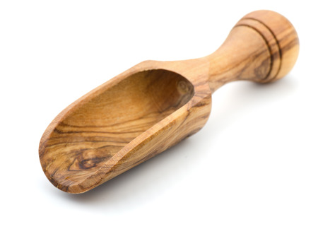 Empty wooden scoop isolated on white Stock Photo - 22989197