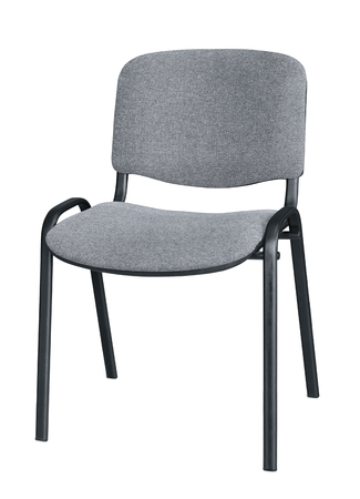 isolated chair: Grey office chair isolated on white