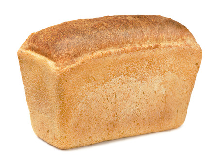 Whole fresh  loaf of bread isolated on white Stock Photo - 23734304