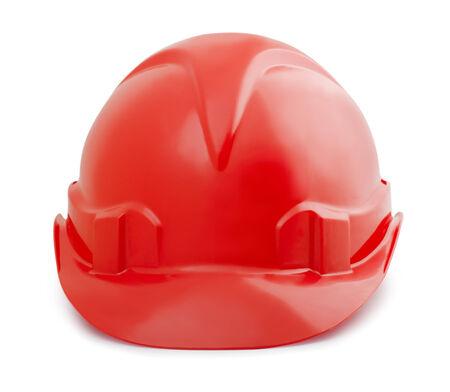 casco rojo: Casco de seguridad constuction rojo aislado en blanco