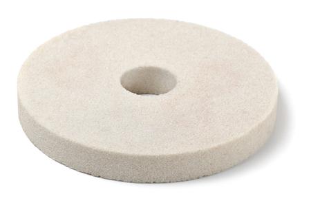 molinillo: Blanco muela aislada en blanco Foto de archivo