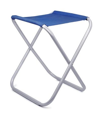 portative: Folding camping stool isolated on white