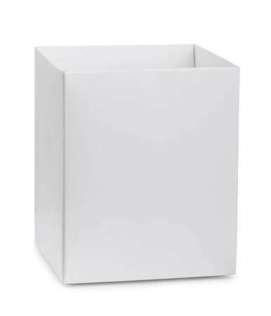 White open cardboard box isolated on white photo