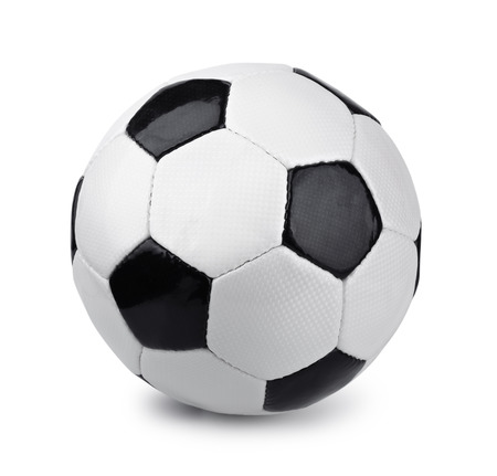 Classic soccer ball isolated on white Stok Fotoğraf