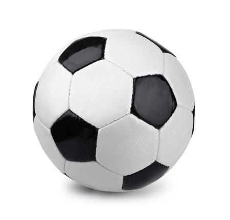 Classique ballon de soccer isolé sur blanc Banque d'images - 30210896