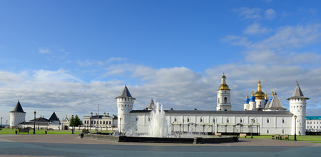 Panoramic view of Tobolsk Kremlin. Siberia. Russia.
