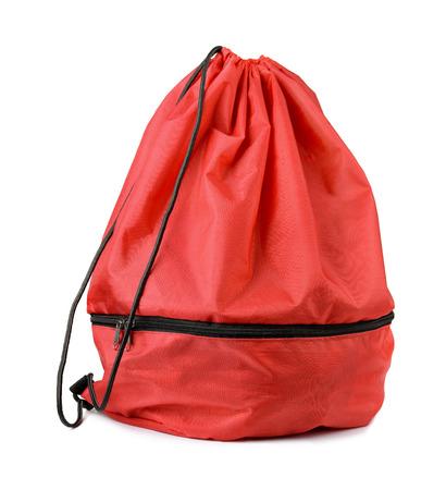 Rouge sac à chaussures de cordon isolé sur blanc Banque d'images - 31286730