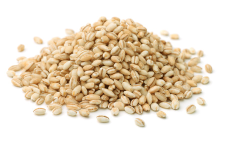 isolated object:  Heap of pearl barley isolated on white
