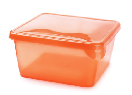 packaging: Plastic food container isolated on white