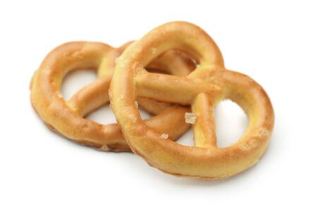 pretzels: Two pretzels isolated on white