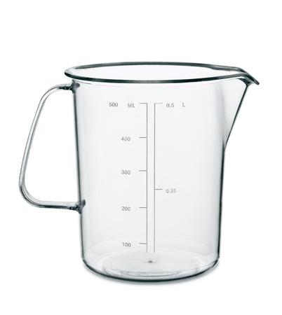 Cuisine tasse à mesurer vide isolé sur blanc Banque d'images - 32817397