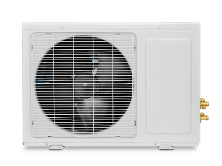 heat pump: Air condition compressor  isolated on white