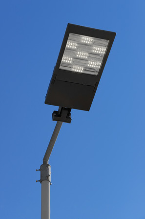 Illuminated LED street light photo