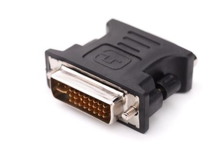 dvi: DVI to VGA adapter isolated on white