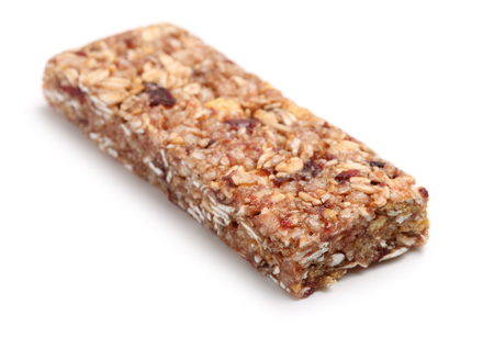 isolates: Granola bar isolates on white