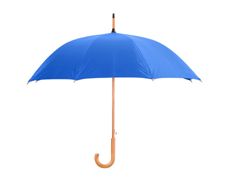 Blue classic umbrella isolated on white
