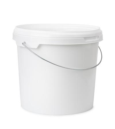 Seau en plastique isolé sur fond blanc Banque d'images - 37097819