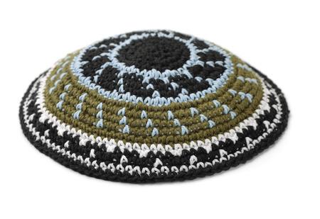 Kippah - traditional jewish headwear isolated on white Stock Photo