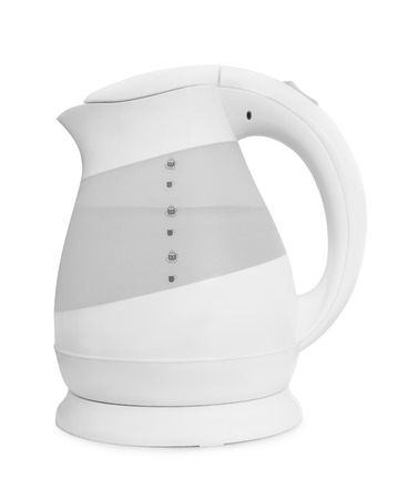 upright: Upright electric kettle isolated on white
