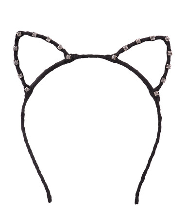 animal ear: Cat ears shaped hair hoop isolated on white Stock Photo
