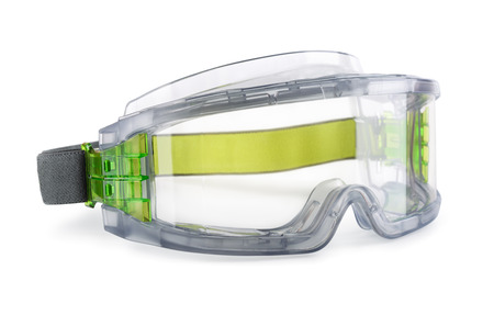 safety goggles: Safety goggles isolated on white