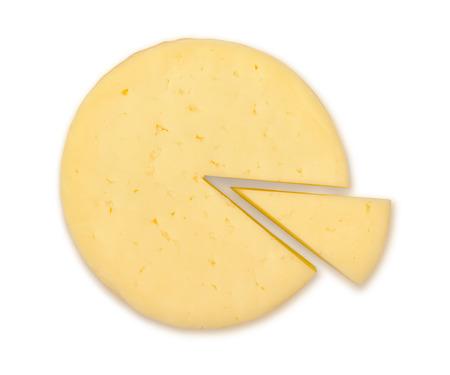 Top-Blick auf Käse-Rad isoliert Standard-Bild - 40181246