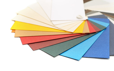colored paper: Samples of color cardstock paper