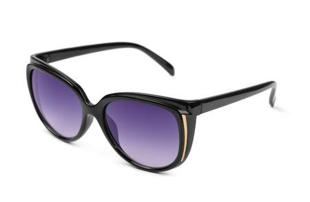 Plastic polarized sunglasses isolated on white photo
