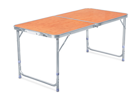 Folding camping table isolated on white