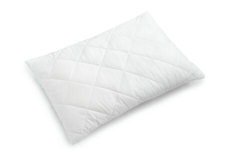 in memory: White cotton pilloow isolated on white