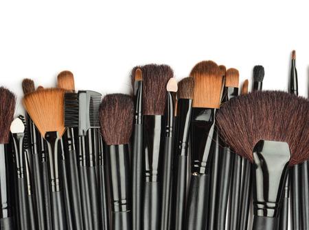 make: Set of professional make up brushes Stock Photo