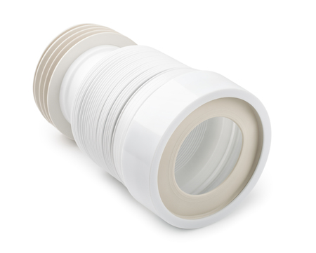 Wc flexible connector isolated on white