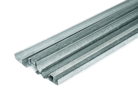 Close up of metal drywall profiles