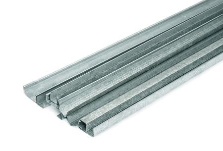 drywall: Close up of metal drywall profiles
