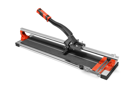 tile cutter: Manual tile cutter isoplated on white Stock Photo