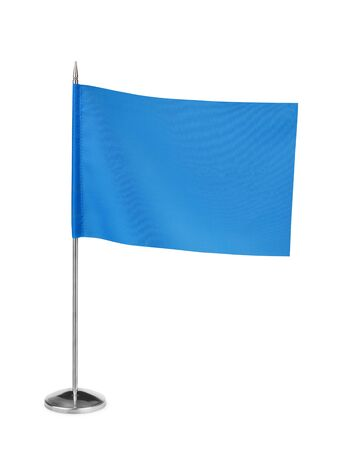 small table: Blue small table flag isolated on white