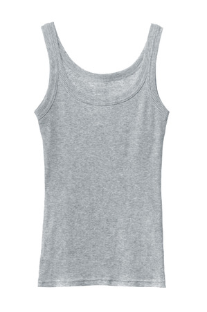 Grey cotton sleeveless shirt isolated on white