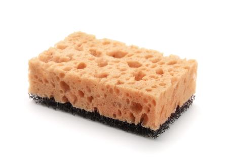 Kitchen sponge isolated on white