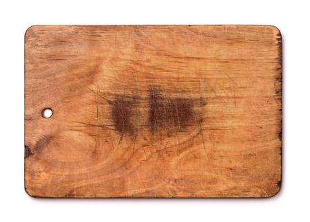 tabla de quesos: tabla de cortar de madera vieja aislado en blanco