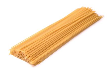pasta isolated: Raw italian pasta isolated on white