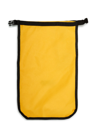 hermetic: Small yellow dry bag isolated on white