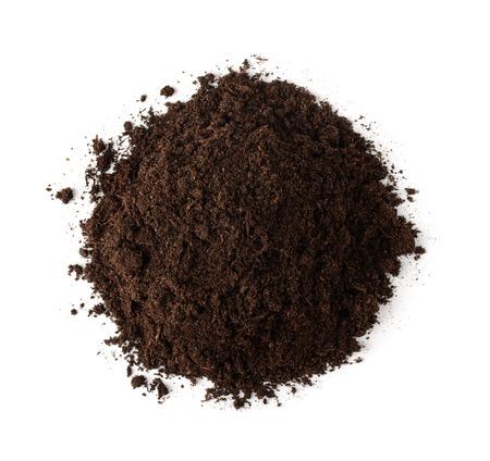 turba: Pila de suelo, vista desde arriba aislados en blanco Foto de archivo