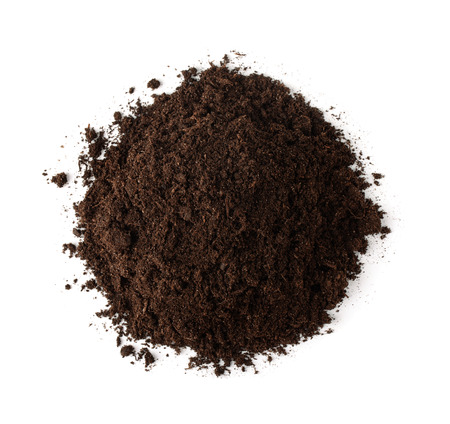 earth handful: Pile of soil, top view isolated on white
