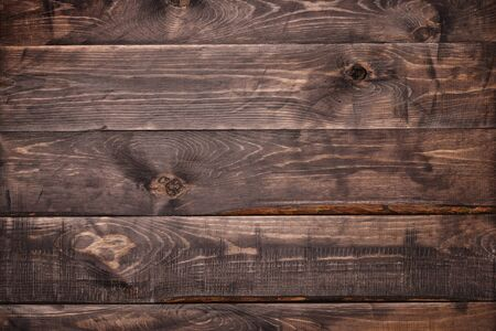 clse up: Clse up of dark brown wood plank background Stock Photo