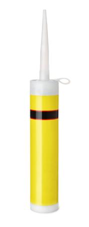 watertight: Silicone sealant tube isolated on white Stock Photo