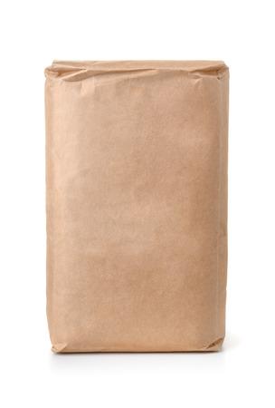 空白茶色の紙袋白で隔離の正面図